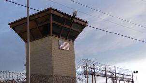 The main gate at the prison in Guantanamo at the U.S. Guantanamo Naval Base