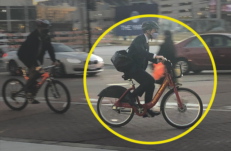 NERD ALERT: Pete Buttigieg Rides Communal Bicycle Home From Work, Wears Helmet - Washington Free Beacon